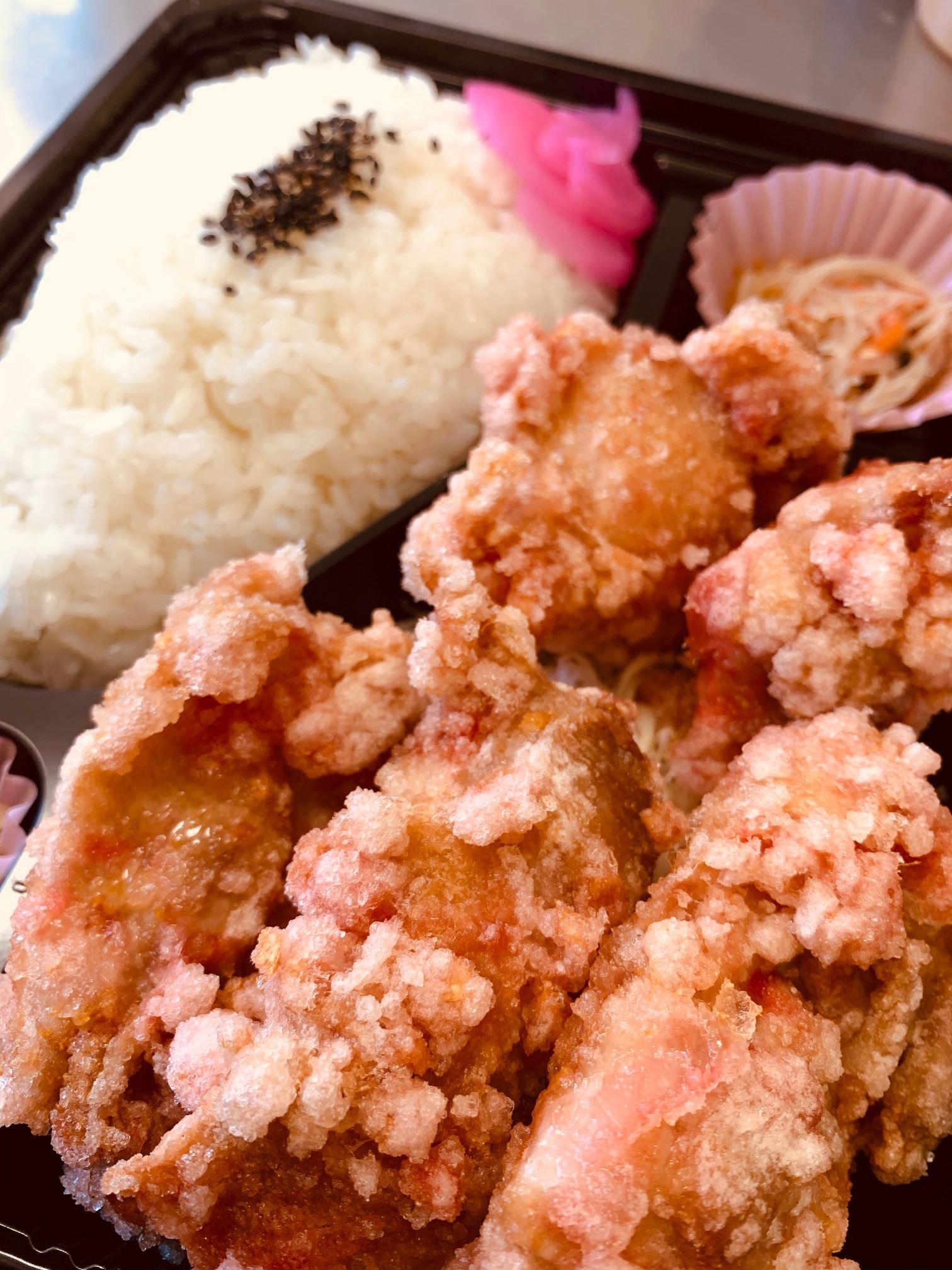 紅生姜唐揚げのお弁当¥690